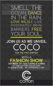 Cotton Collection Fashion Show on 31st August 2013