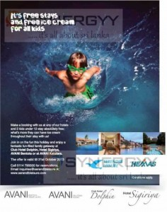 Free Kid stays promotions at Serendib Leisure and Hemas Hotels