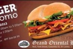 Grand Oriental Hotel BURGER Promo from 12th to 24th August 2013
