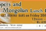 Hoppers & Mongolian Lunch Buffet at BARS Café on 30th August 2013