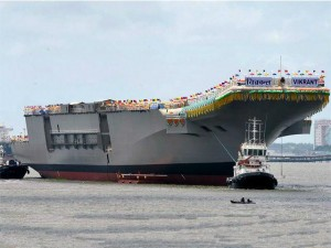 India Launches its Own Air Craft Carrier Vikrant