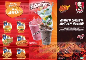 KFC Dine in Prices  - 1