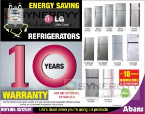 LG Energy Saving Refrigerators Prices in August 2013