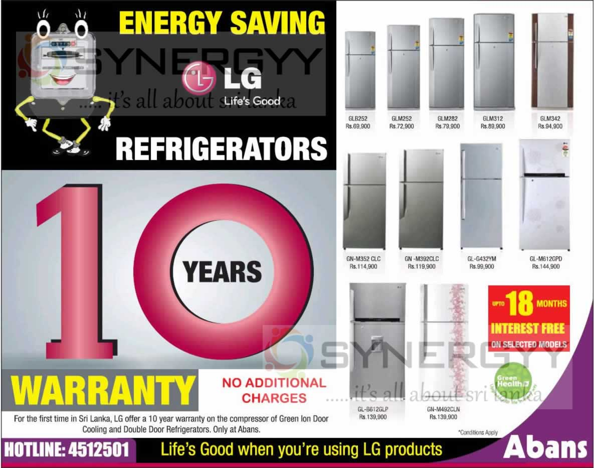 Refrigerator Energy lg Energy Saving Refrigerators