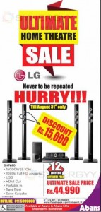 LG Home Theatre System for Rs. 44,990.00 till 31st August 2013