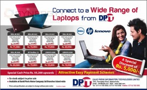 Laptop Prices from David Pieris Information Technology