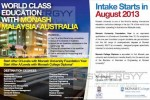 Monash College Intakes for August 2013 by ANC