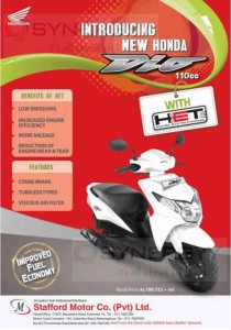 New Honda Dio 110cc for Rs. 212,500.00 (All Inclusive)
