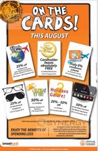 Sampath Bank Credit Card Offer for August 2013