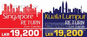 Sri Lankan Airline Last Minute Getaway offer for Singapore and Kuala Lumpur