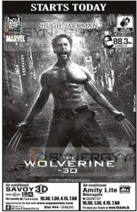 The Wolverine in 3D Released in Sri Lanka Today