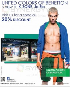 United Colors of Benetton now at K-Zone – 20% Introductive Promotions Now