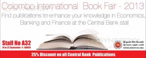 25% off on all Publications of Central Bank of Sri Lanka