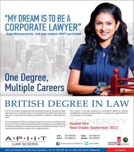 APIIT Law School – September 2013 intakes