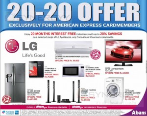 Abans LG 2020 Promotion – American Express Credit Card