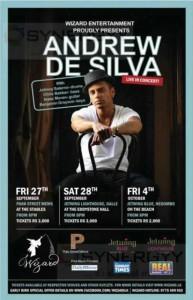 Andrew De Silva Live in concert in Jetwings Blue Negombo