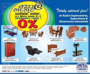 Arpico Furniture Prices and Special Promotion
