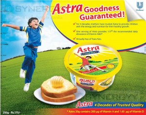 Astra Goodness Guaranteed for your good healthy on every bite