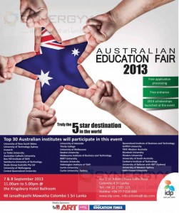 Australian Education Fair 2013 – 7th & 8th September 2013
