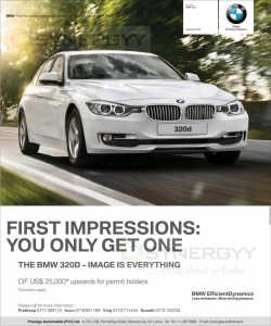 BMW 320D for USD 25,000.00 for Permit Holders