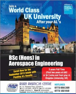 BSc (Hons) in Aerospace Engineering in Sri Lanka with Asian Aviation Centre