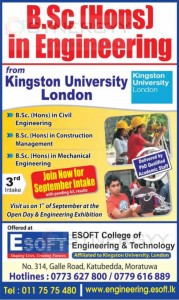 BSc (Hons) in Engineering from E-Soft – September 2013