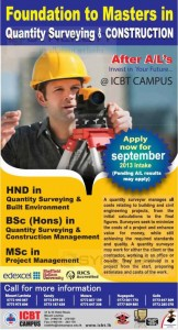 BSc (Hons) in Quantity Surveying & Construction Management by ICBT Campus