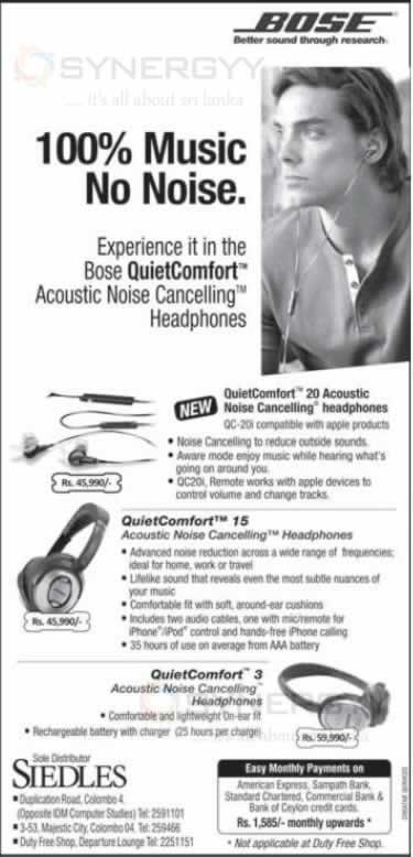 Bose Headphones Now In Sri Lanka Rs 45 990 00 Upwards