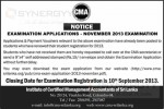 CMA Sri Lanka November 2013 Examination application calls now – Applied before 10th September 2013