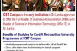 Cardiff Metropolitan University Degree programmes in Sri Lanka