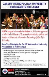 Cardiff Metropolitan University programmes in Sri Lanka