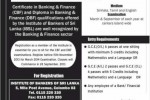 Certificate in Banking & Finance (CBF) and Diploma in Banking and Finance (DBF) in Sri Lanka – September 2013