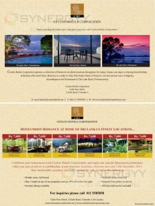 Ceylon hotel Corporation special promotion from today to 15th December 2013