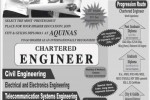 Chartered Engineering Programme with Aquinas University College – New Intakes in September 2013