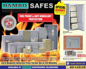 Damro Safes and Lockers Special Discount on Cash Purchases