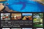 Discount upto 40% at Cinnamon Hotel & Resorts for Commercial Bank Creditcard