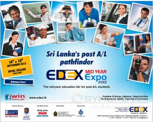 EDEX midyear Expo 2013 at Royal College – 14th & 15th September 2013