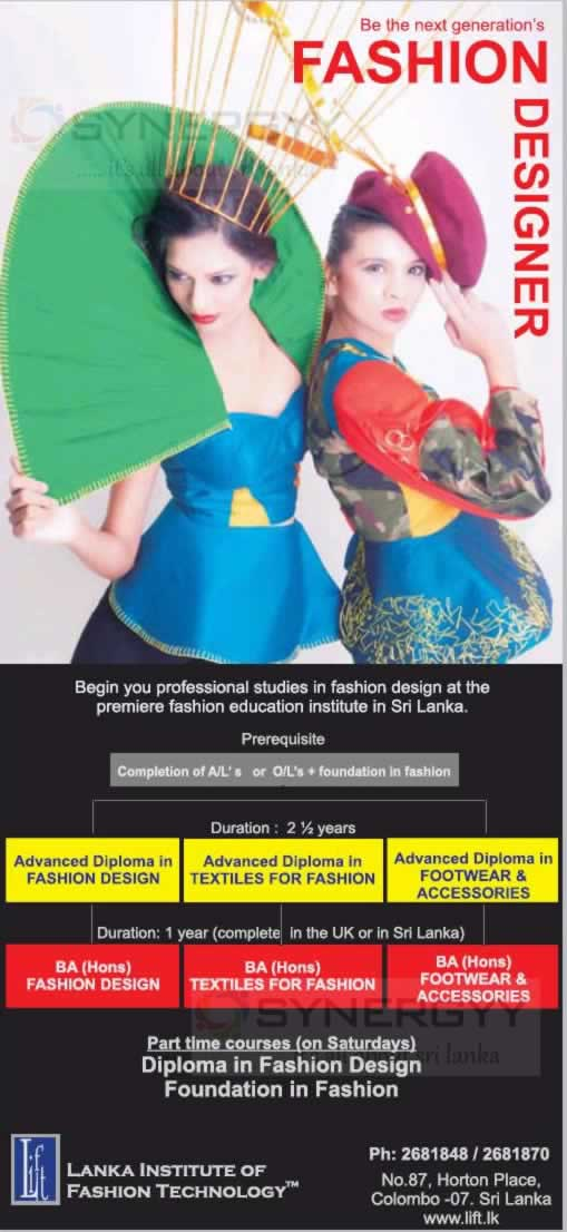 Fashion Designing Degree Programmes In Sri Lanka Synergyy