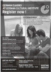 German Language Classes at German Cultural center. Register now-Goethe Institute