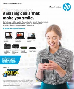 HP Laptops, Printers and Scanners Promotions in IT Festival 2013- September 2013