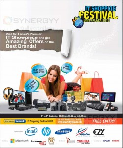 IT shopping festival Unity Plaza from 2nd to 8th September 10.00 am-5.00pm