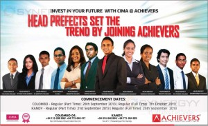 Invest in your future in the best way with CIMA at Achievers