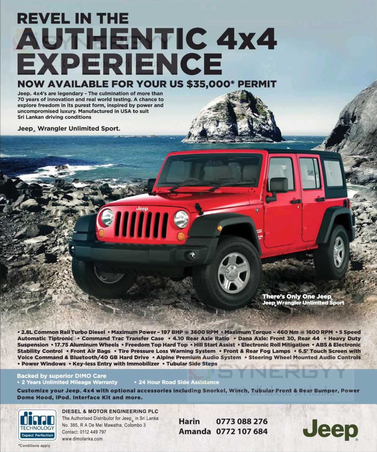 Price Of A Used Jeep Wrangler: Jeep Wrangler Unlimited Sport 4X4 Prices In Sri Lanka