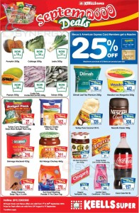 Keels Super September 2013 Deals