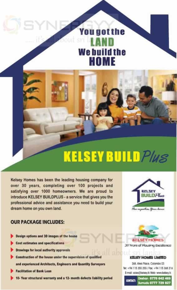 Kelsey build plus house building on your own land synergyy for Build house on your own land