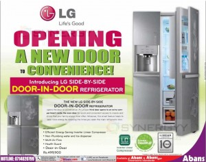 LG Door in Door Refrigerator for Rs. 499,900.00 from Abans –September 2013