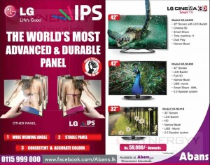 LG IPS TV in Sri Lanka from Rs. 59,990.00 upwards