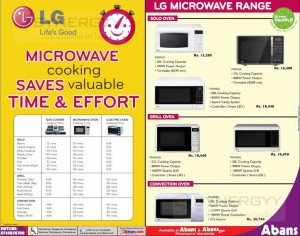 LG Microwave Cooking and Timing for Cooking