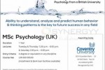 MSc in Psychology (UK) by Colombo Institute of Research & Psyschology