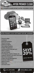 MYOB Premier Cloud anywhere at anytime – 20% Off